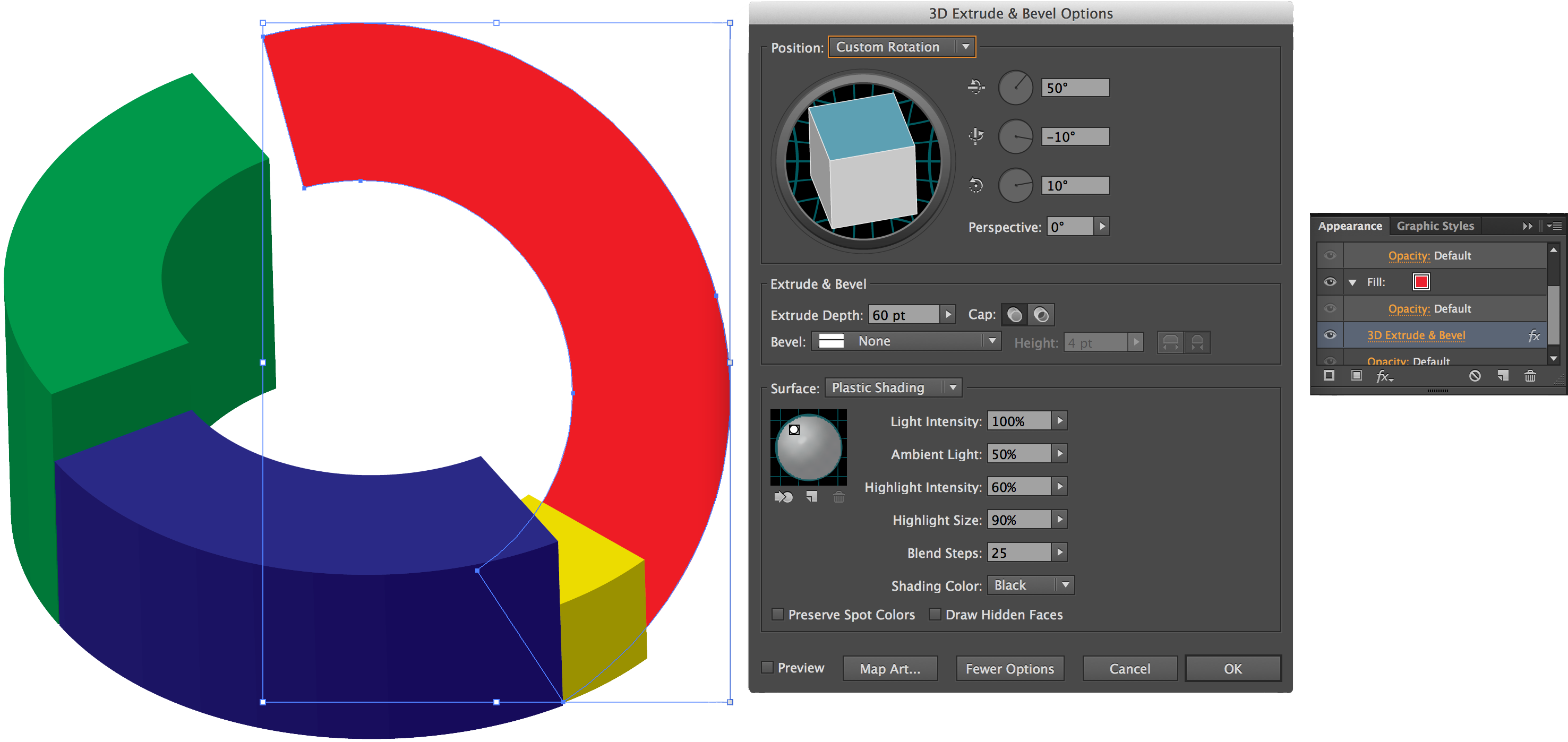 3d pie chart in illustrator yeehaw up 13 3d pie chart extruded options correction nvjuhfo Choice Image